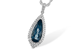 B235-30193: NECK 2.40 LONDON BLUE TOPAZ 2.65 TGW