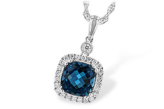 C235-28366: NECK 1.63 LONDON BLUE TOPAZ 1.80 TGW
