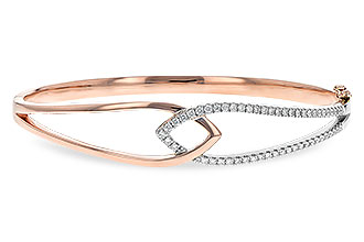 C235-34802: BANGLE BRACELET .50 TW (ROSE & WG)
